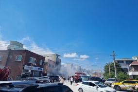 울진읍 모 식당, 전기 누전으로 인한 화재 발생